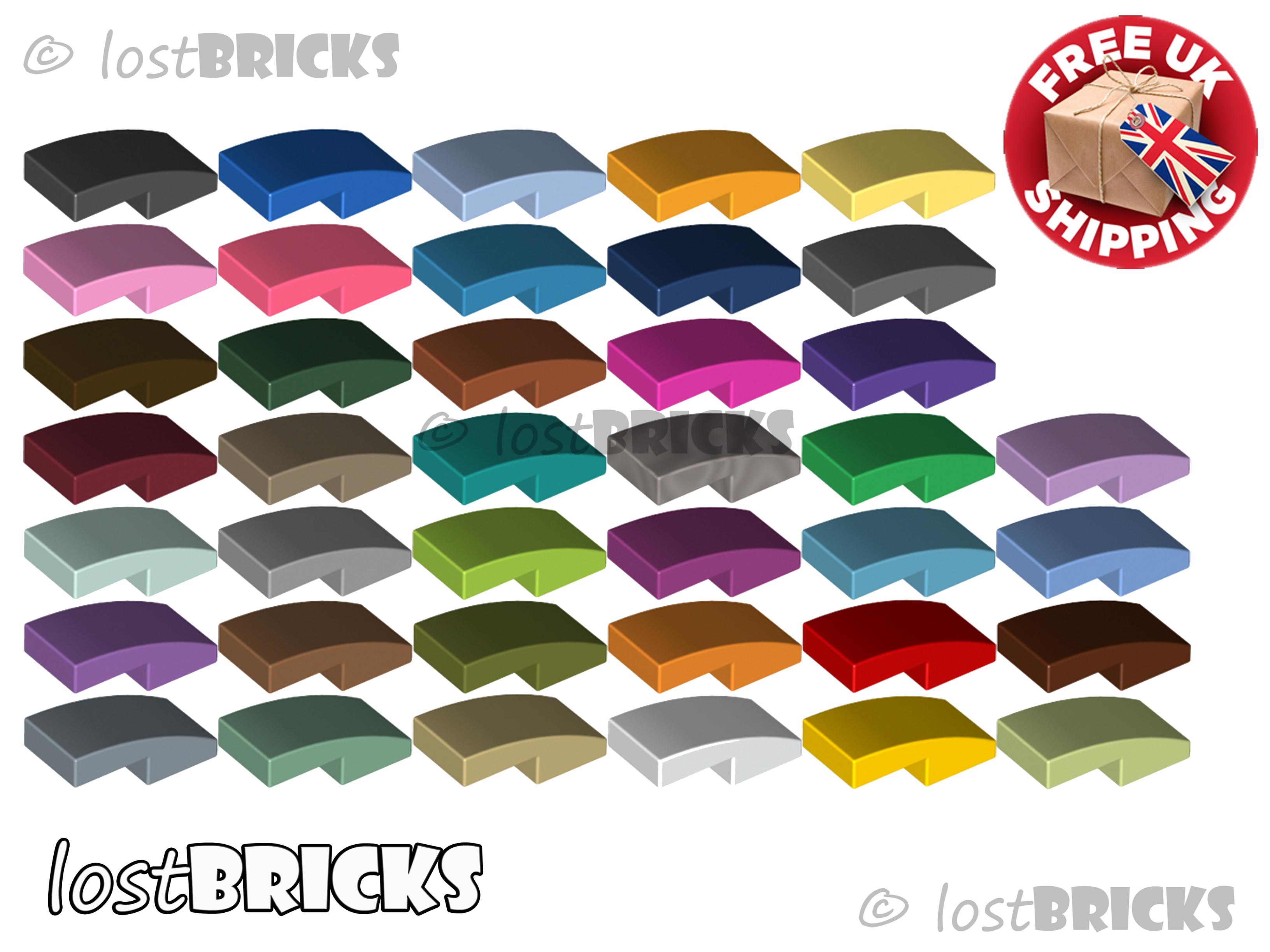 Slope Curved 2x1 No Studs 11477 Choose Color /& Quantity Lego