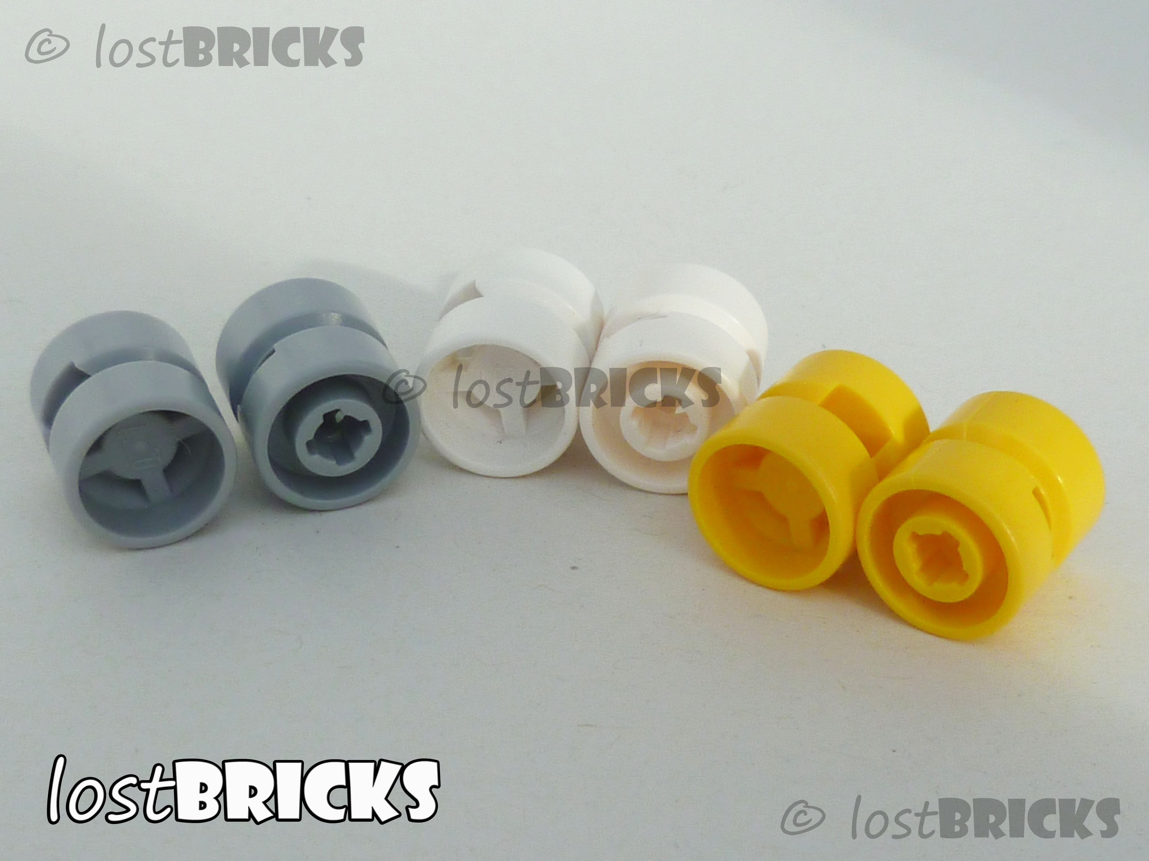 Diam + SELECT COLOUR x 12mm 4 Pack of NEW LEGO Wheels 11mm Part 6014 // 6014b