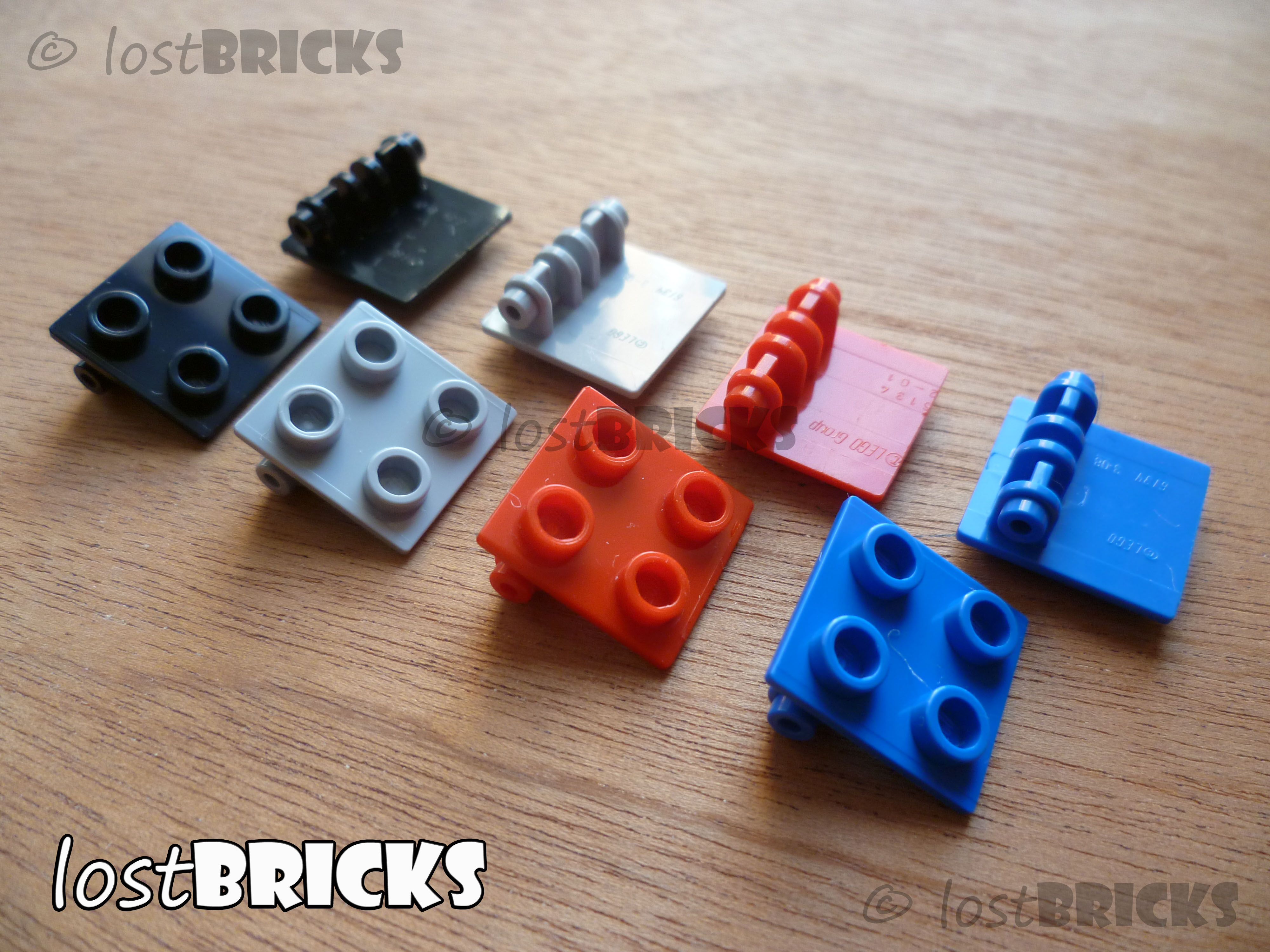 Colour Selection Lego 5x HINGE PLATE Joint Plate 2x2 Studs 6134